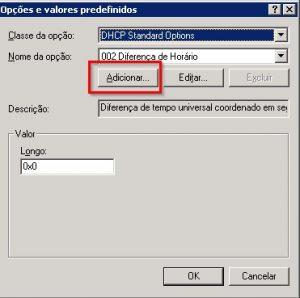 Configurando wpad no DHCP do Windows 2