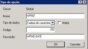 Configurando wpad no DHCP do Windows 3