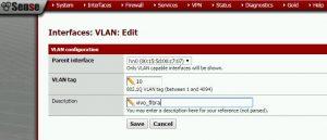 configurando vlan 10 no pfSense